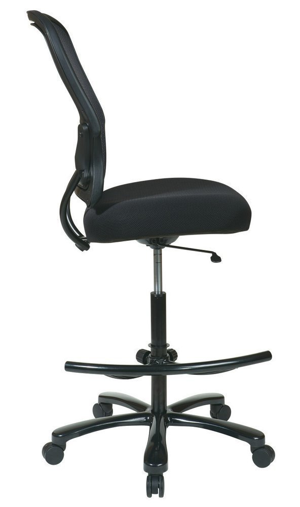 mesh seat double layer seat drafting chair no arms