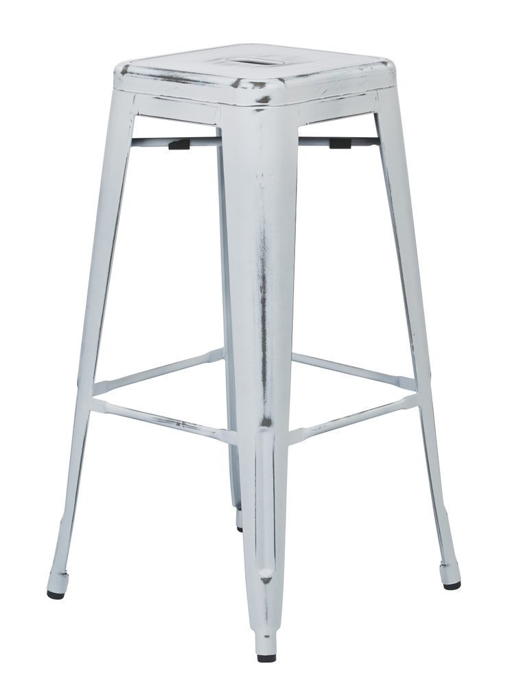 Terrific Bristow 30 Antique Metal Barstool Antique White Finish 2 Pack Pdpeps Interior Chair Design Pdpepsorg