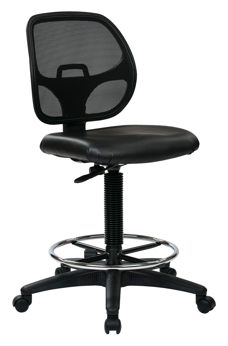 Deluxe Mesh Back Drafting Chair With 20 Diameter Foot Ring