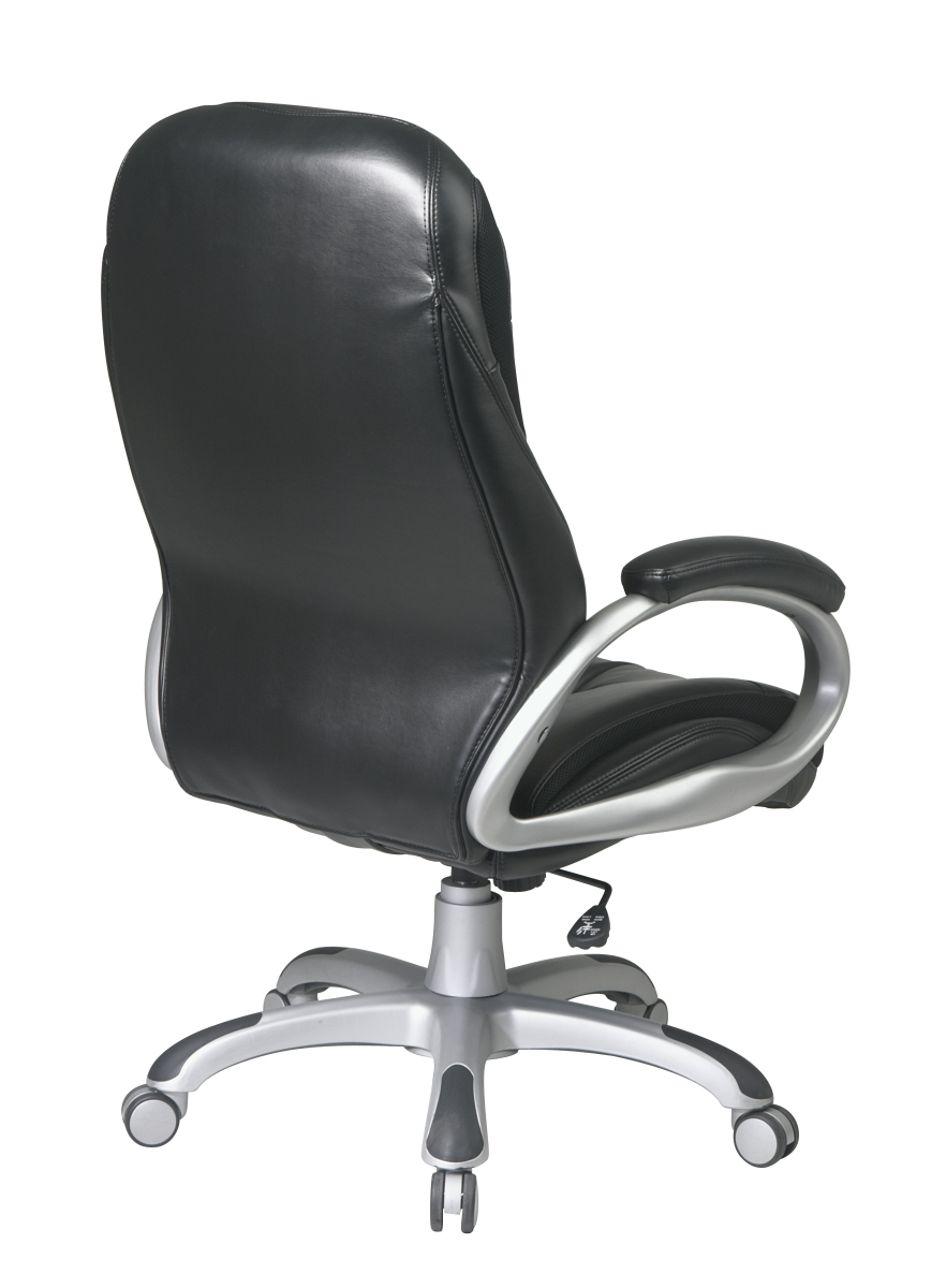 Executive High Back Black Bonded Leather Chair - Ergoback.com