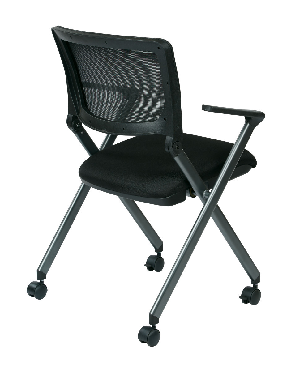 Folding Chair with Screen Back and Icon Black Seat in ...