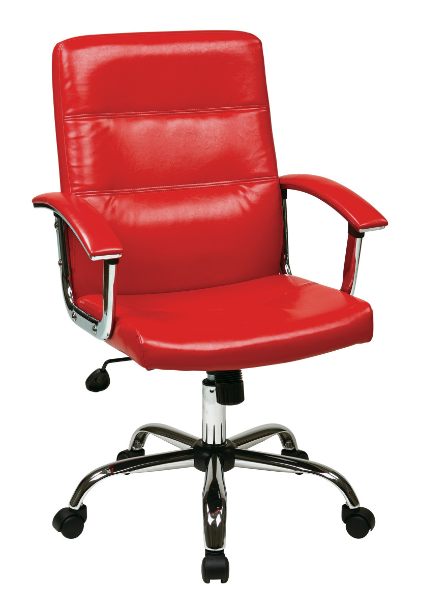 malta office chair in red