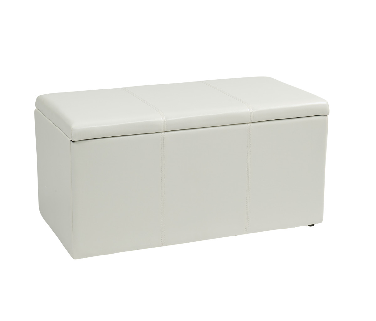 Excellent 3 Piece White Vinyl Ottoman Set Gmtry Best Dining Table And Chair Ideas Images Gmtryco