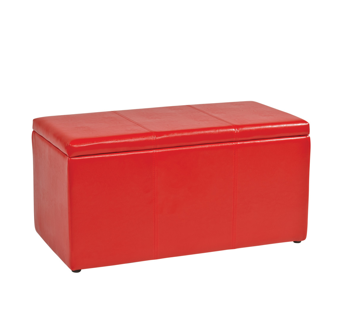Astounding 3 Piece Red Vinyl Ottoman Set Creativecarmelina Interior Chair Design Creativecarmelinacom