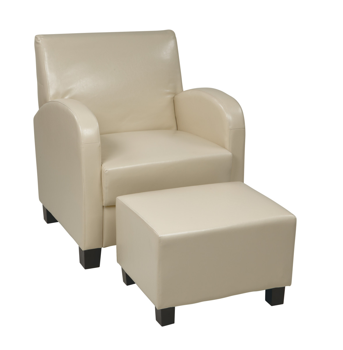 cream chair with ottoman faux leather club chair with ottoman ergoback 13581 | MET807CM hi