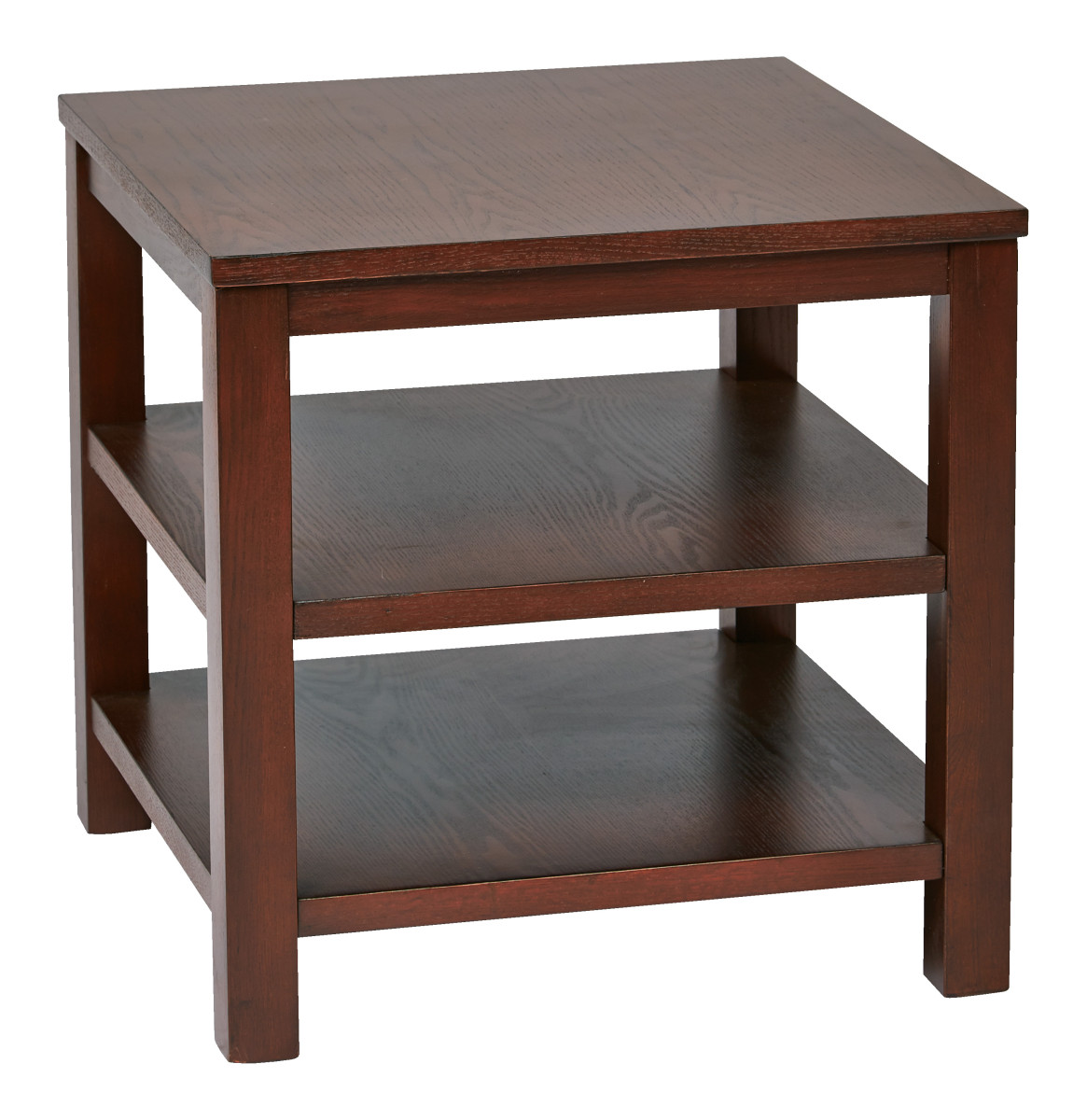 Merge 20 square end table mahogany finish for Square side table