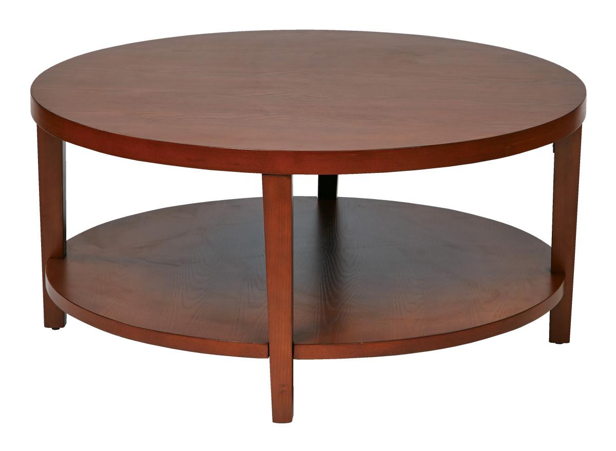 Merge 36 Round Coffee Table Cherry Finish