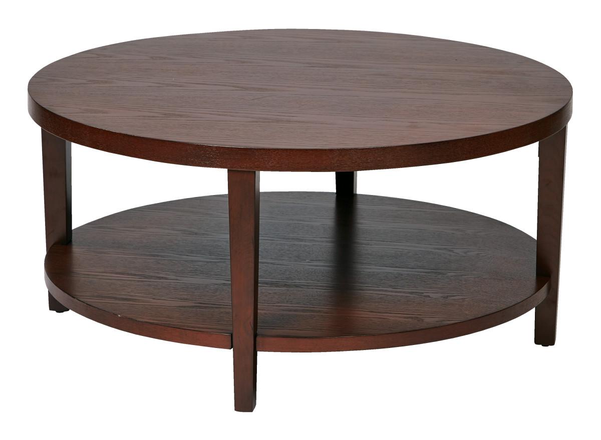 Merge 36 Round Coffee Table Mahogany Finish