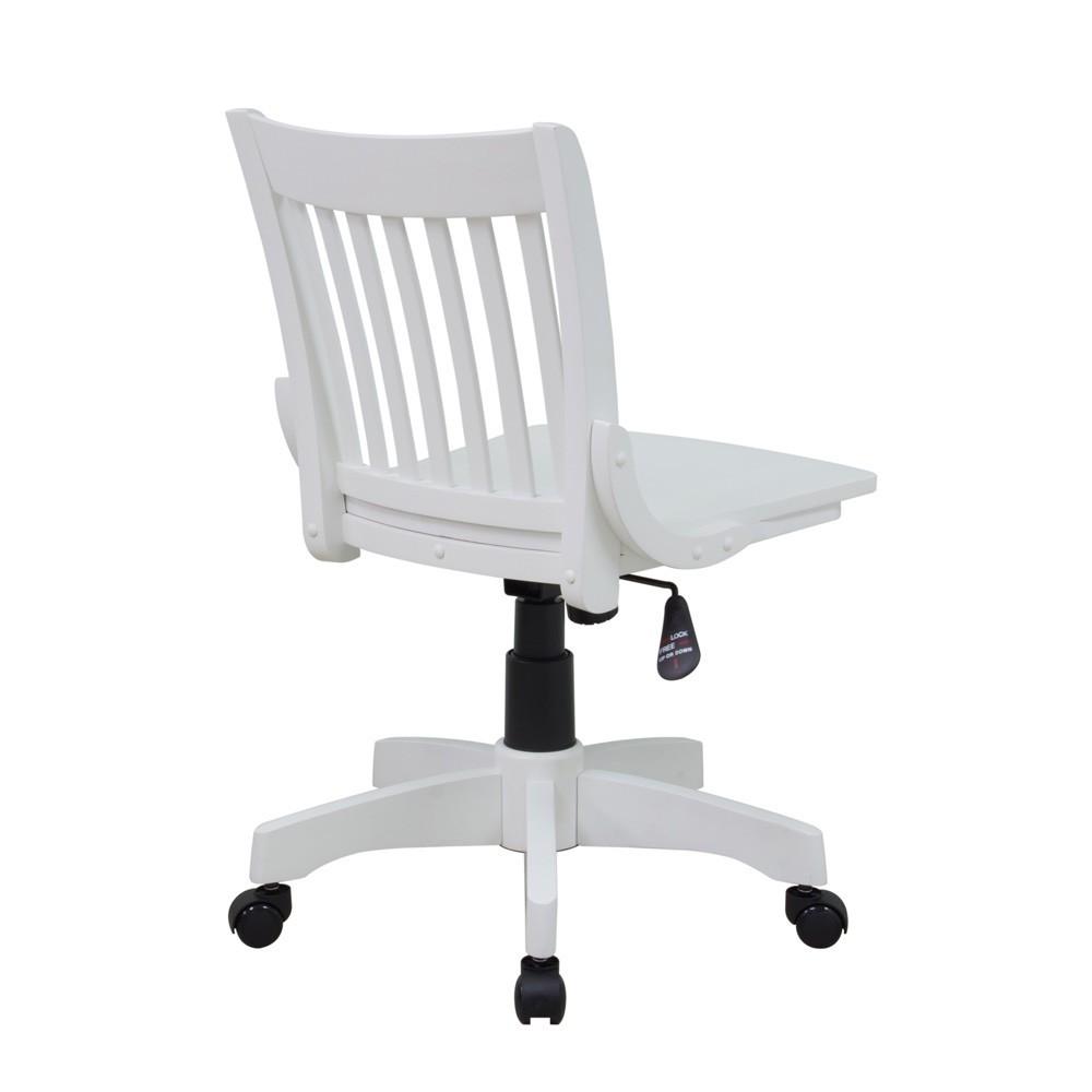 Armless Wood Office Chair With Wheels Desk Chair Armless Desk