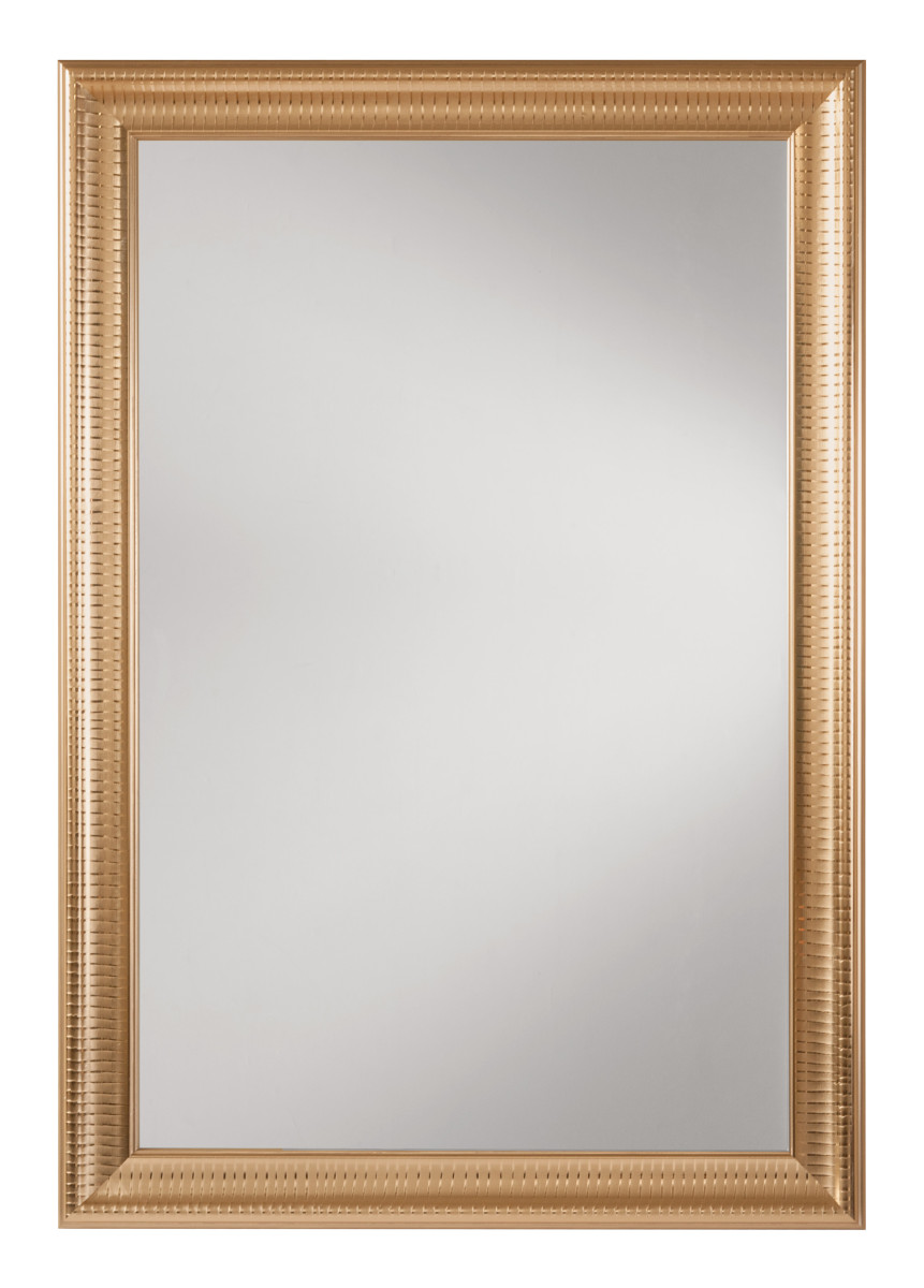 Savoy rectangle wall mirror with regency gold frame for Mirror frame
