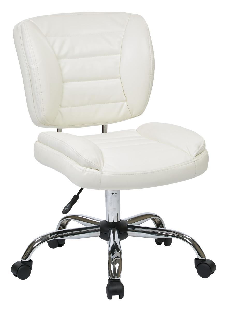 Armless Task Chair (White) - Ergoback.com