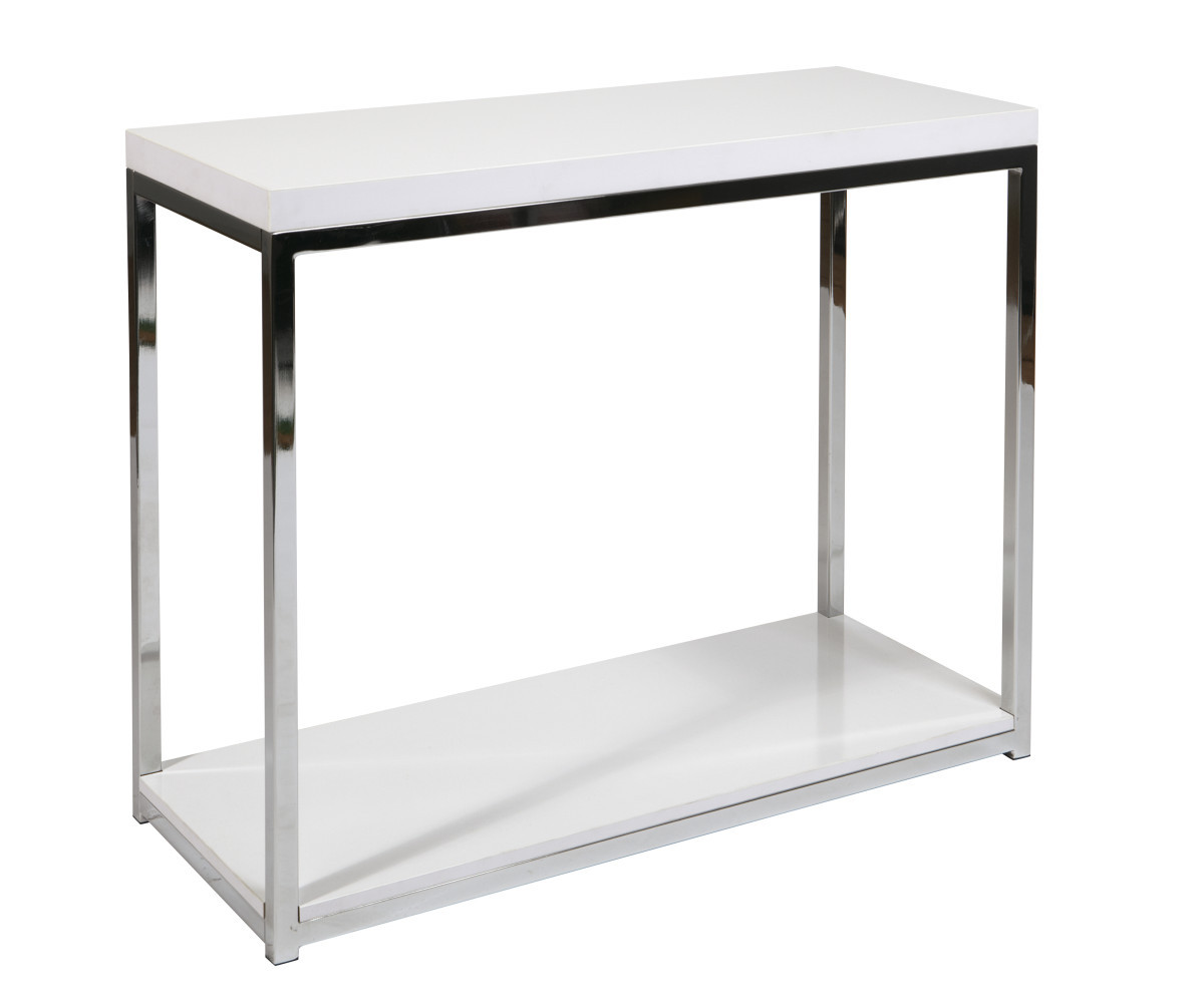 Wall street foyer table in white for Entry wall table