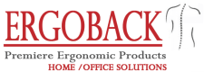 Home office ergonomic solutions, the ErgoBack color logo
