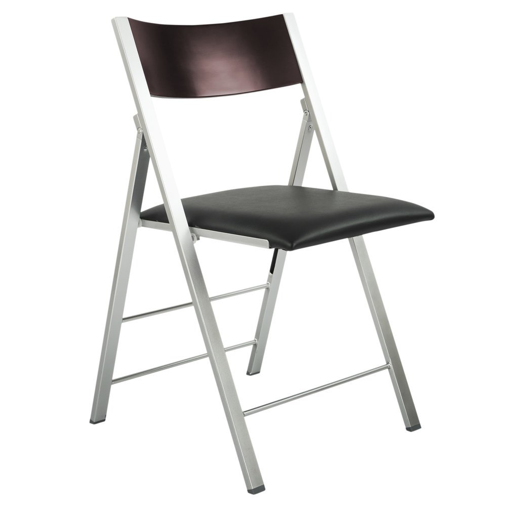 Fabulous Space Saving Modern Folding Chair With Cushion Set Of 2 Evergreenethics Interior Chair Design Evergreenethicsorg