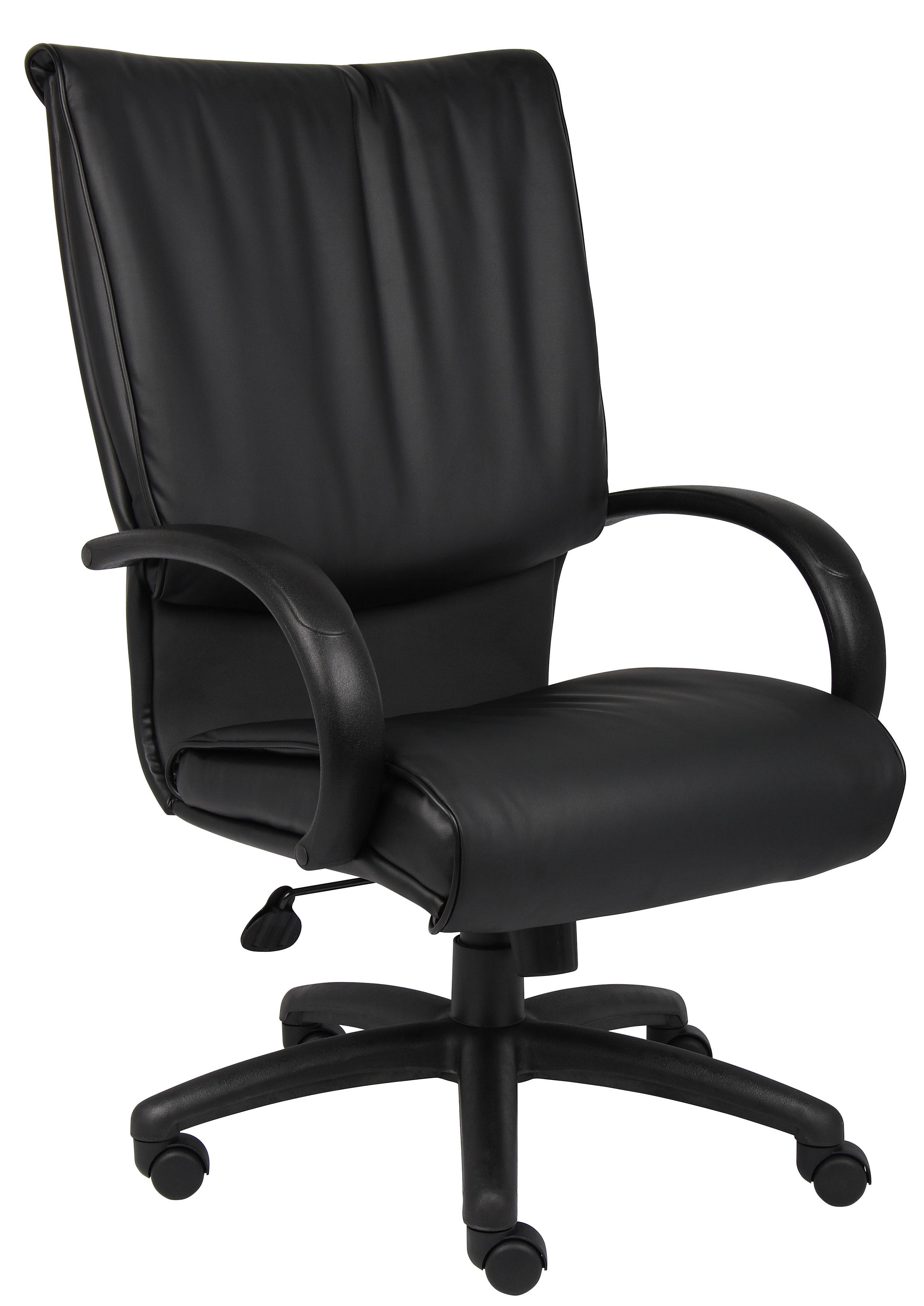 Boss High Back Black LeatherPlus Executive Chair B9701 Ergoback