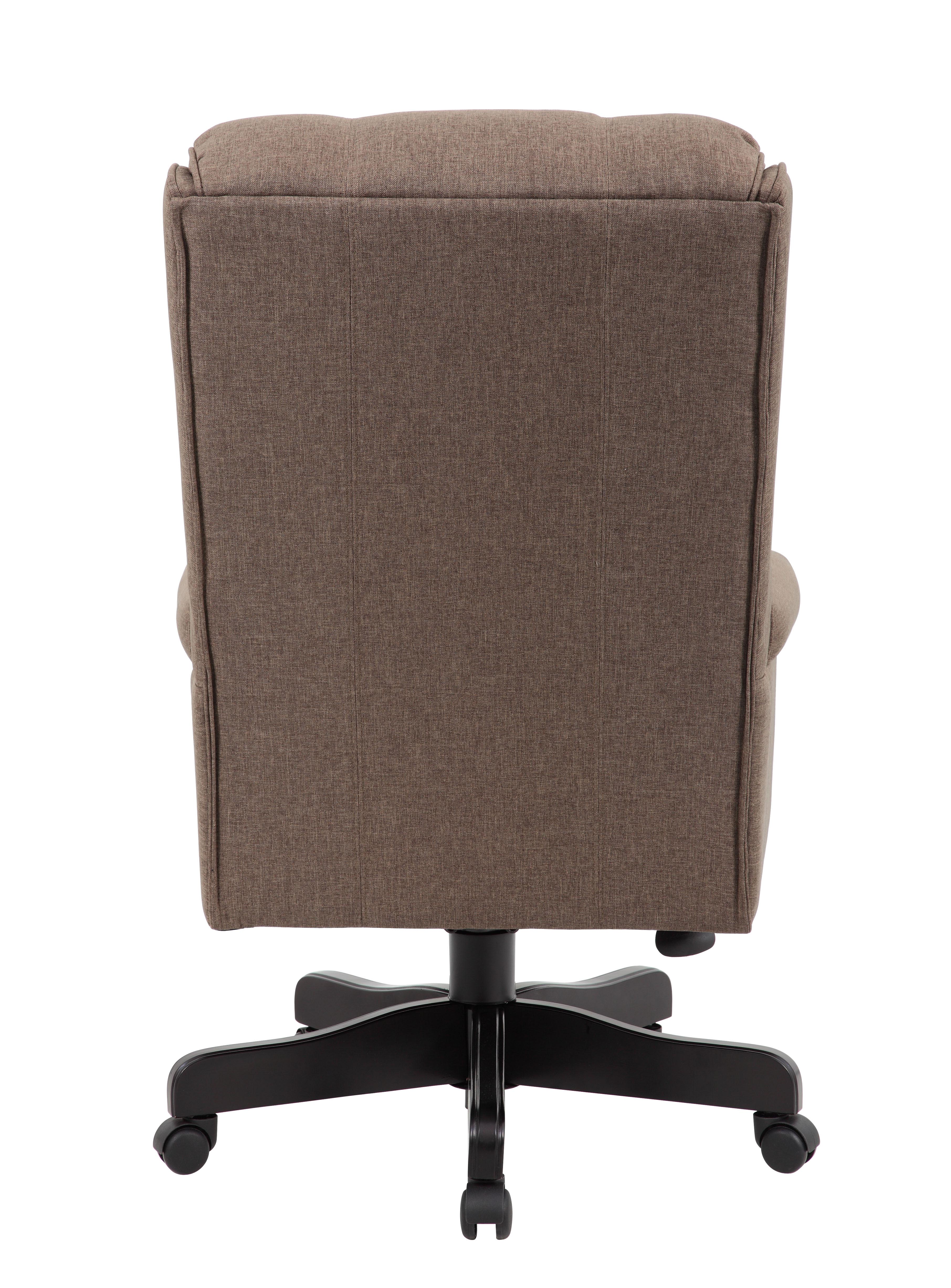 boss high back commercial grade linen chair with black base b980bk