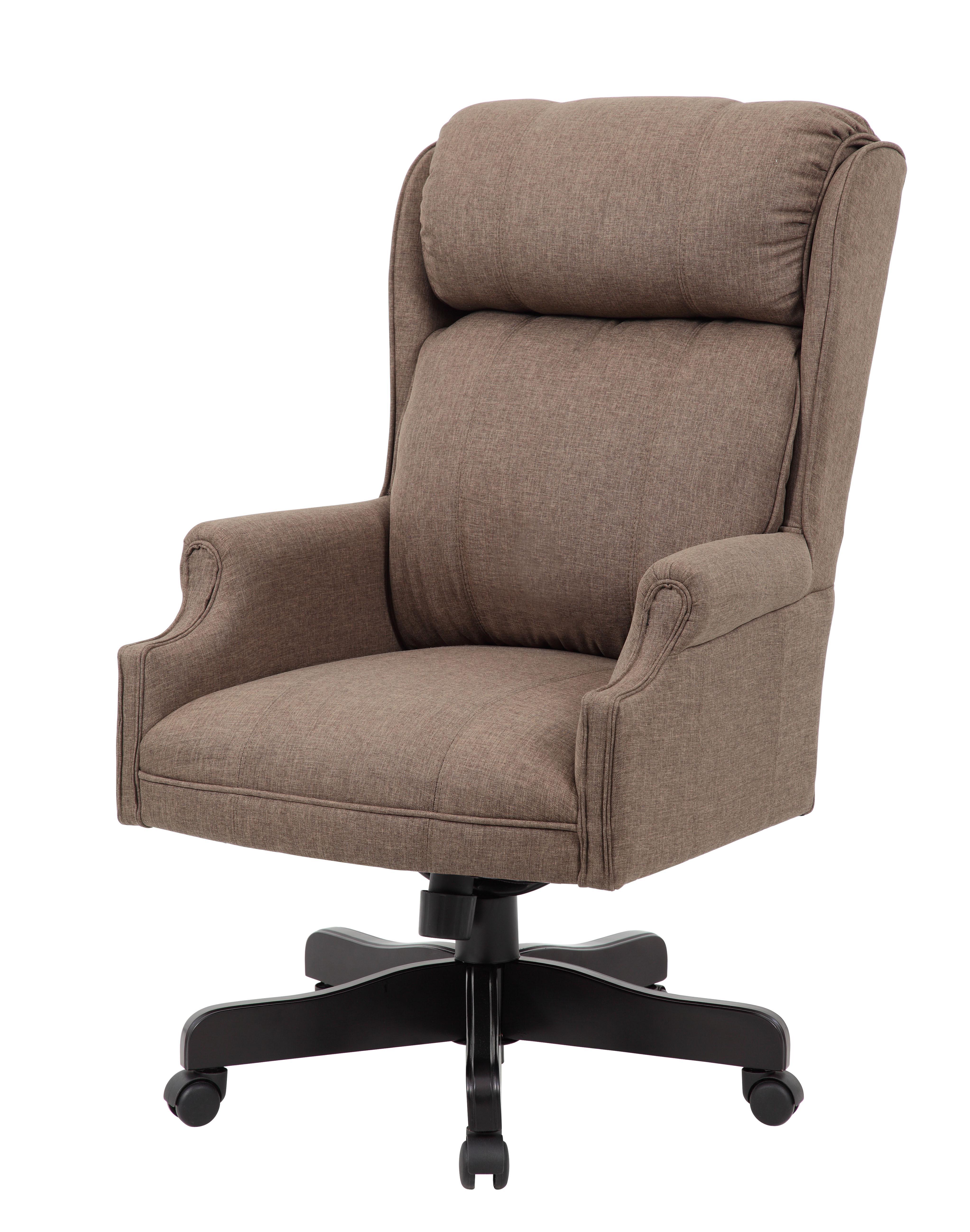 Boss High Back mercial Grade Linen Chair With Black Base B980BK