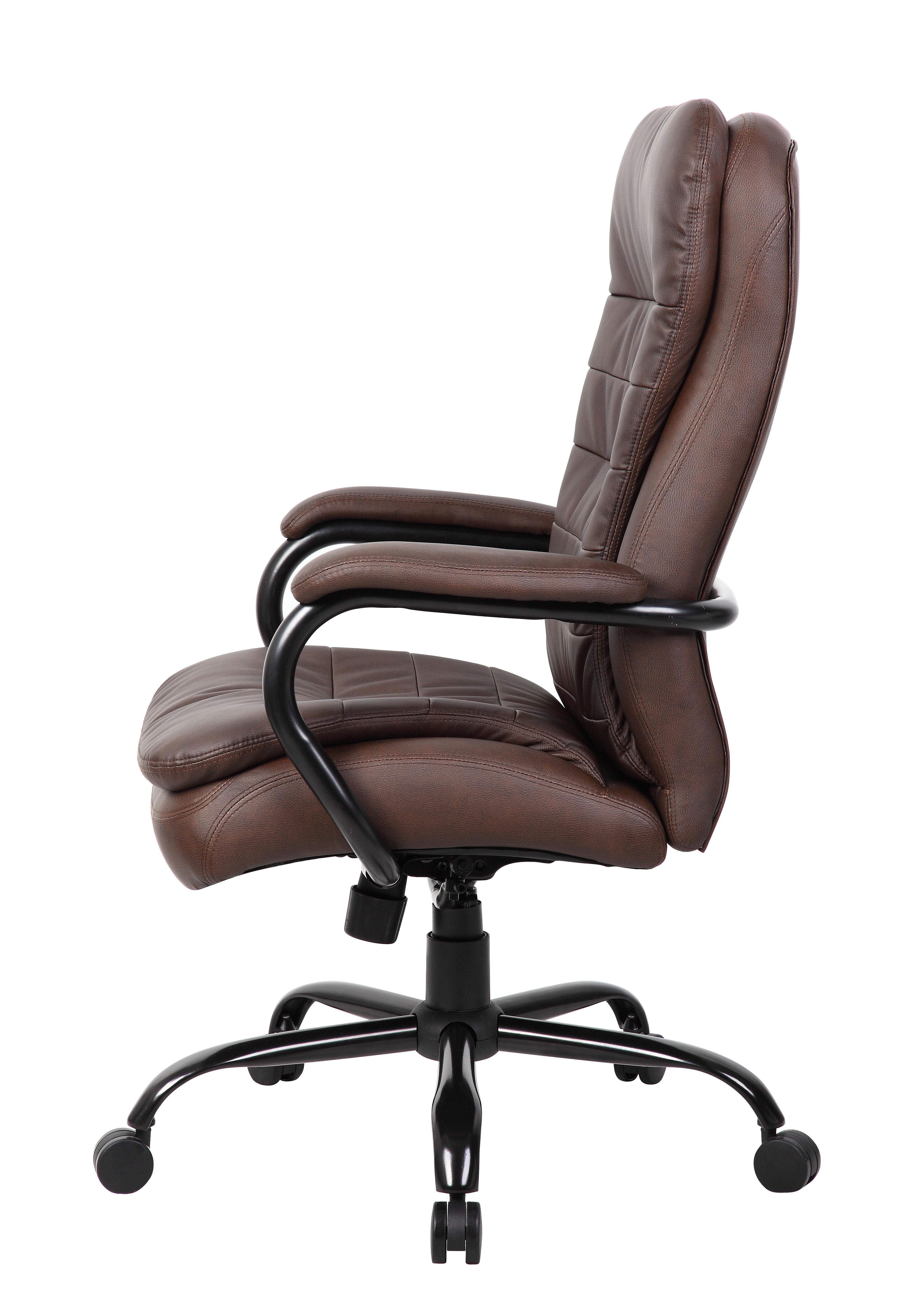 Boss Heavy Duty Double Plush Leatherplus Chair B991