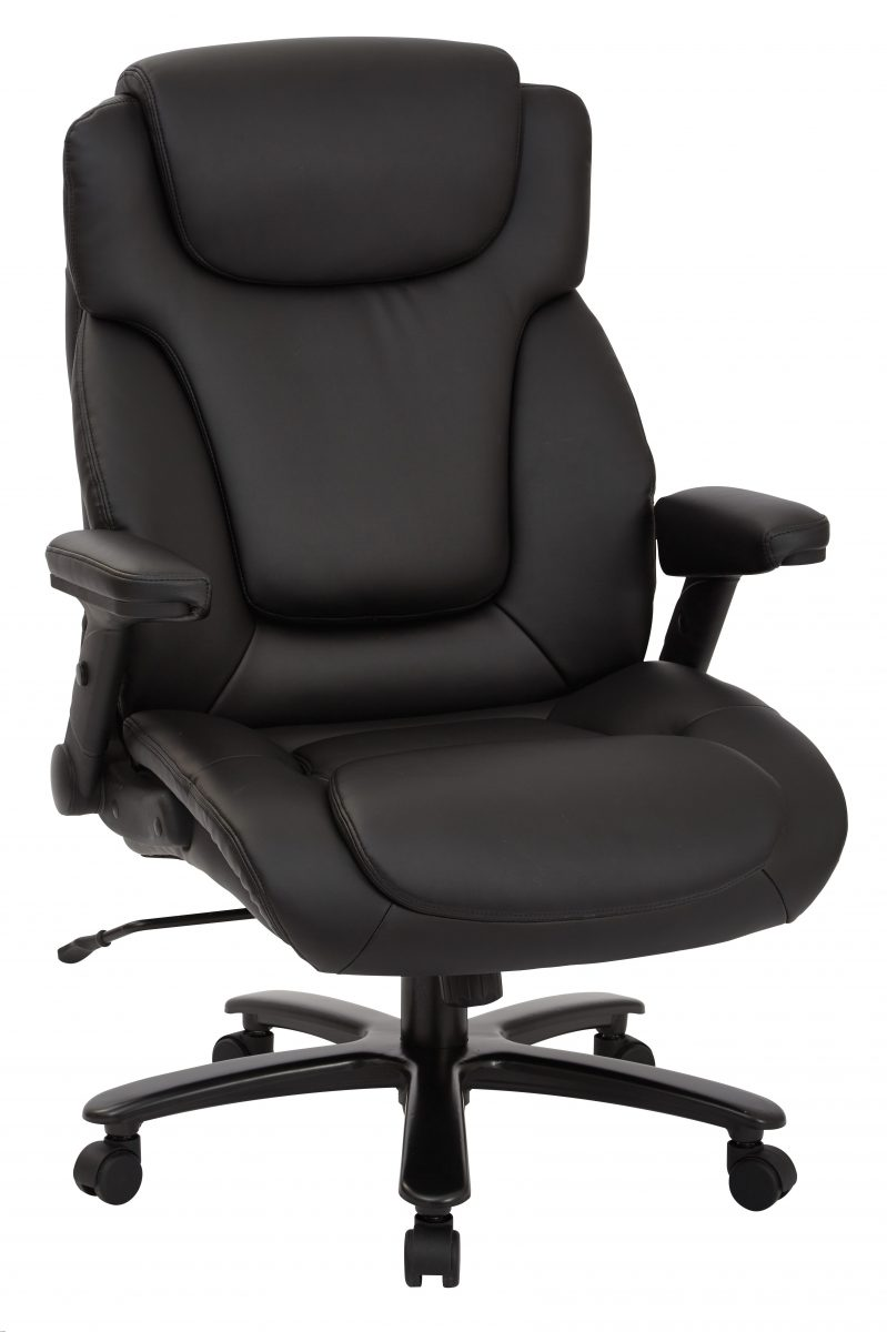 Wondrous Big And Tall Deluxe High Back Bonded Leather Executive Chair With Padded Flip Arms Machost Co Dining Chair Design Ideas Machostcouk
